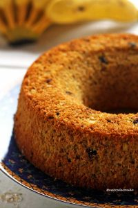 Bolo de banana-fit 3 ingredientes